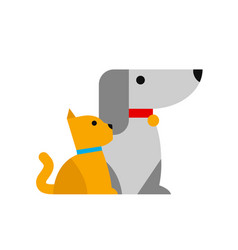 cat and dog in minimalistic style vector image vector image