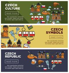 czech republic culture and symbols internet web vector image vector image