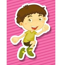 Little boy jumping up vector
