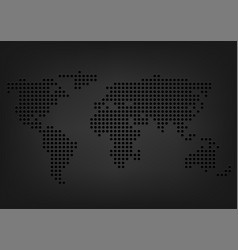 metal holes world map vector image vector image