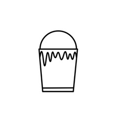 paint bucket icon vector image