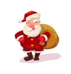 Santa with bag vector image