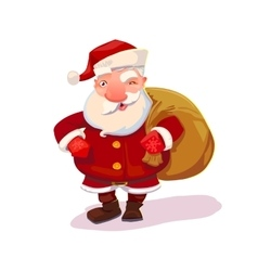 Santa with bag vector image vector image
