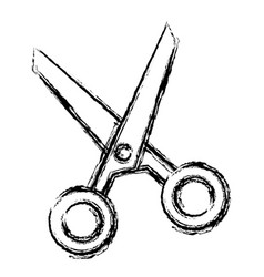 scissors tool isolated icon vector image vector image