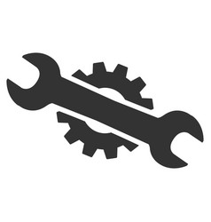 service wrench flat icon vector image vector image