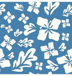 Tropical summer flowers seamless pattern vector image vector image