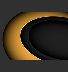 abstract yellow curve on grey with blank space vector image