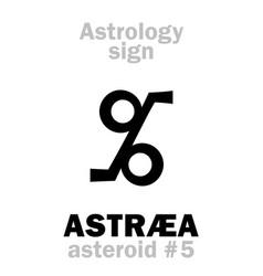 Astrology asteroid astr vector