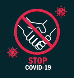 Avoid contact people stop covid 19 pandemic vector