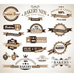 Bakery vinatge labels vector image