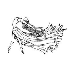 Ballerina dancing modern dance vector