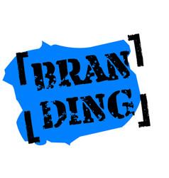 Branding sticker stamp vector