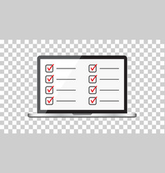 businessman checklist with notebook check list vector image