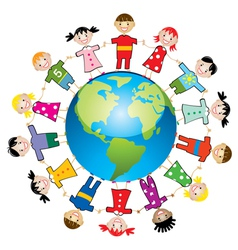 children around world vector image