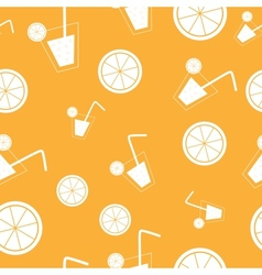 citrus Cocktail seamless pattern background vector image