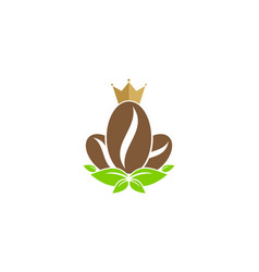 coffee king logo icon design vector image
