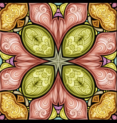 colored seamless pattern with mosaic motif vector image