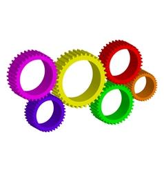 colorful cog-wheels vector image