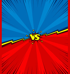Comic book versus battle background vector