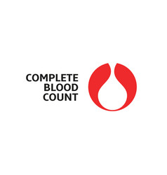 Complete blood count white blood drop in red vector
