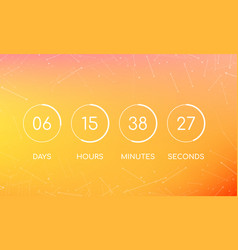 countdown clock board for coming soon page vector image