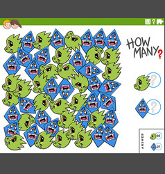 Counting monster characters educational task for vector