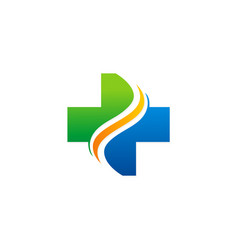 cross hospital logo vector image