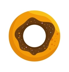 Delicious sweet donuts icon vector