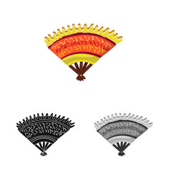 Design fan and beautiful symbol set of vector
