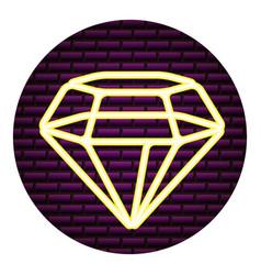 diamond neon brick wall vector image