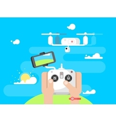 Driving quadrocopters design flat vector