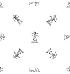 Energy pole pattern seamless vector
