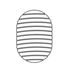 fingerprint black color icon vector image