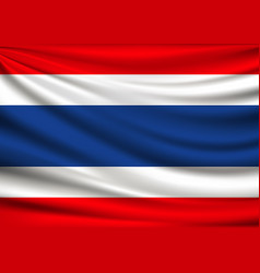 Flag of thailand fabric design background vector