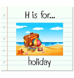 Flashcard letter H is for holiday vector