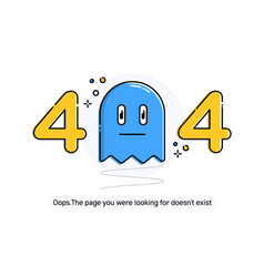 Flat line icon concept of 404 error page or file vector
