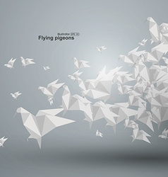 Flying paper dove vector image