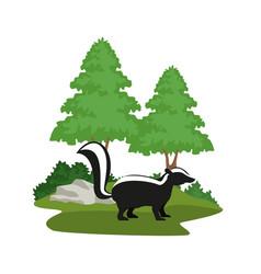 Forest animals cartoon vector