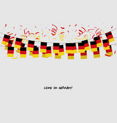 germany garland flag with confetti vector image