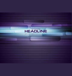 Glowing blue and purple tech striped abstract vector