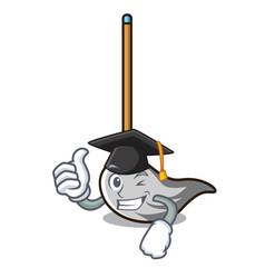 graduation mop character cartoon style vector image