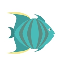 green fish marine species icon vector image
