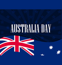 happy australia day 26 january the text with the vector image