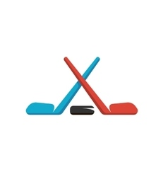 Hockey logo on white background vector image