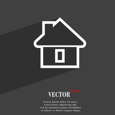 House icon symbol flat modern web design with long vector