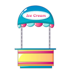 Ice cream shop icon cartoon style vector