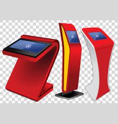 Interactive information kiosk advertising display vector