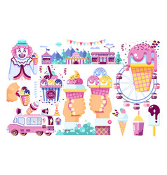 Isolated business selling ice vector