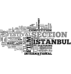istanbul film festival in april text background vector image