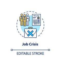 Job crisis concept icon high unemployment rate vector